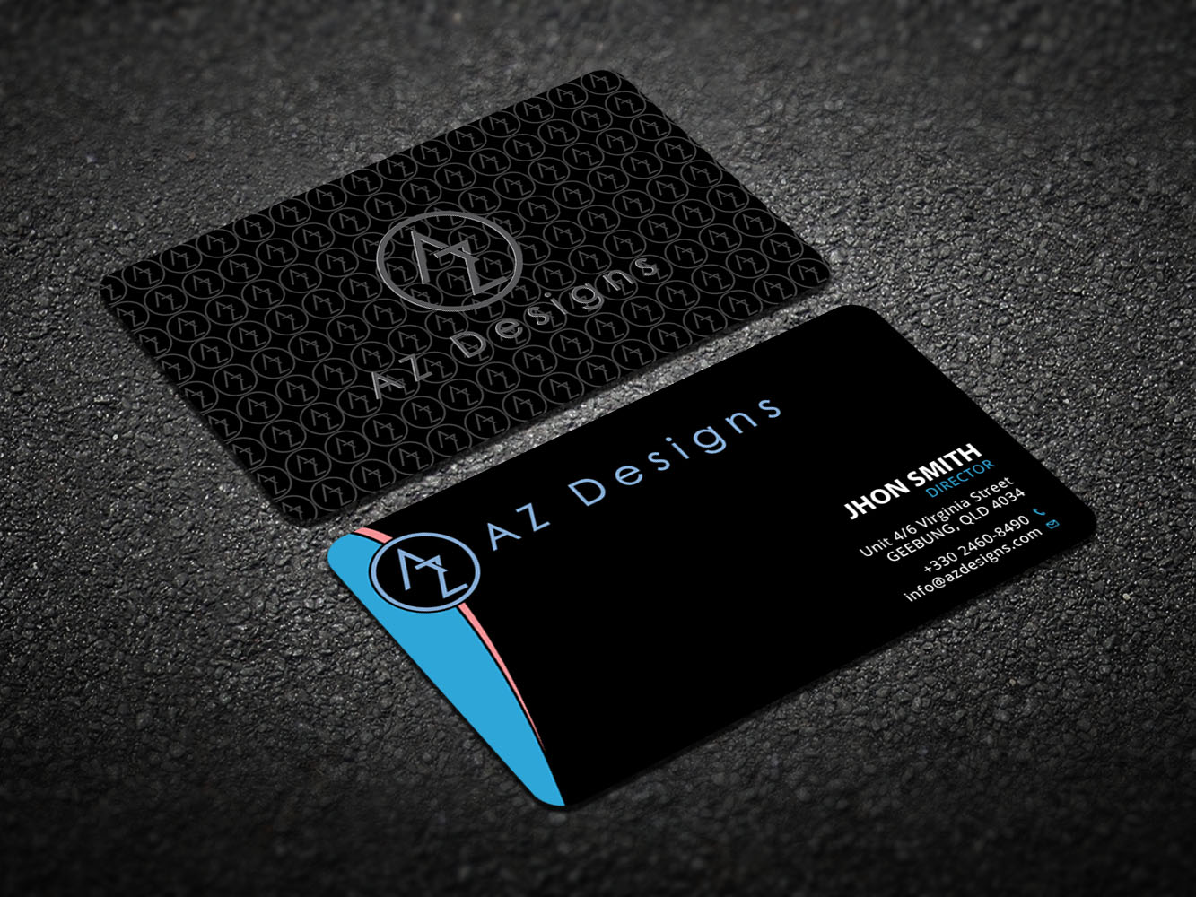 Elegant feminine design agency business card design for az designs business card design by design xeneration for az designs design 10751161 reheart Images