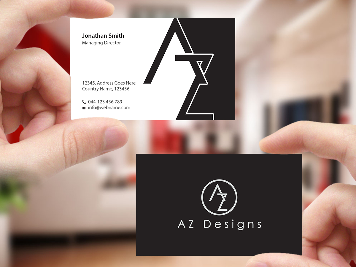 Elegant feminine design agency business card design for - Business name for interior design company ...