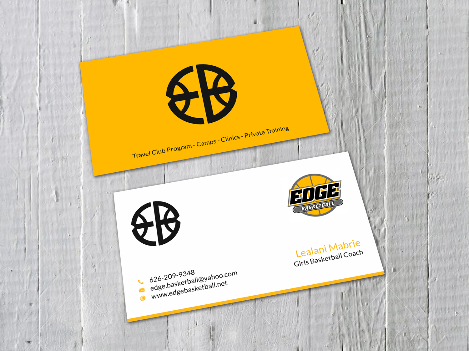 Business Business Card Design for Edge Basketball by SKYdesign ...
