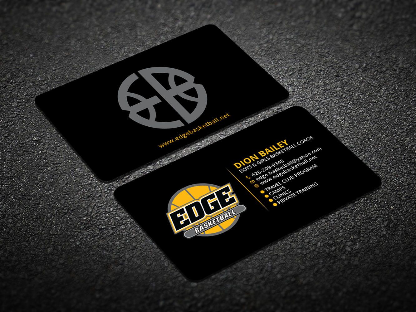 Design De Carte Visite Par Xeneration Pour Edge Basketball
