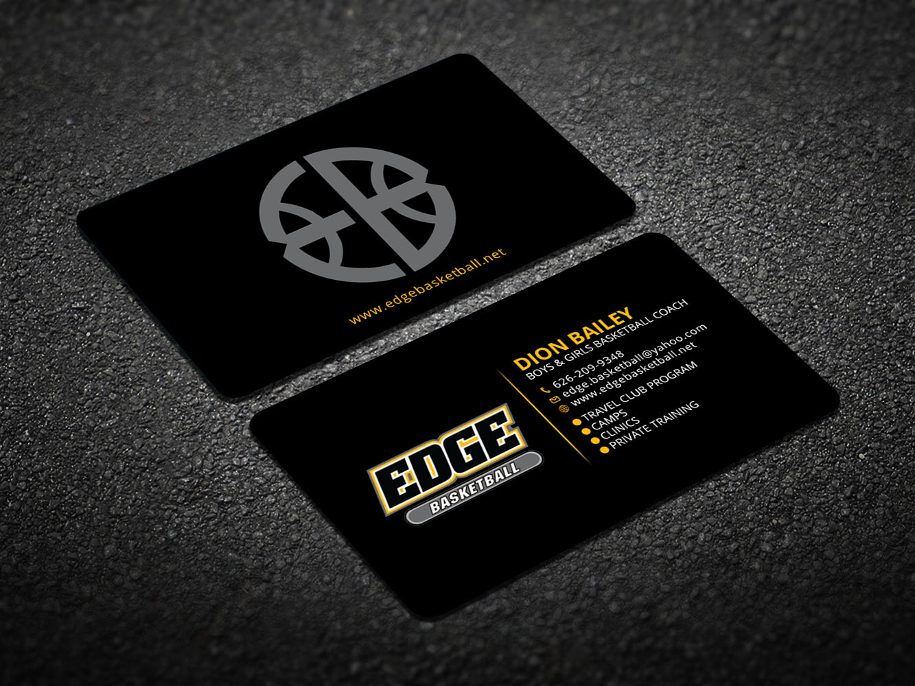 Business Business Card Design For Edge Basketball By Design