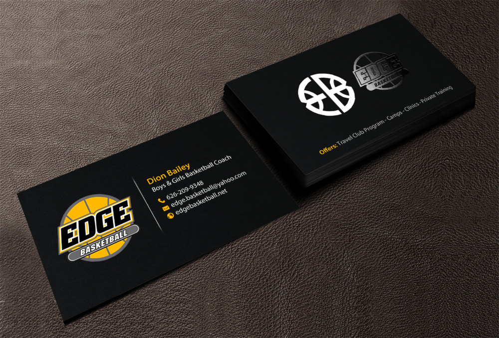 Business Business Card Design For Edge Basketball By Chandrayaan