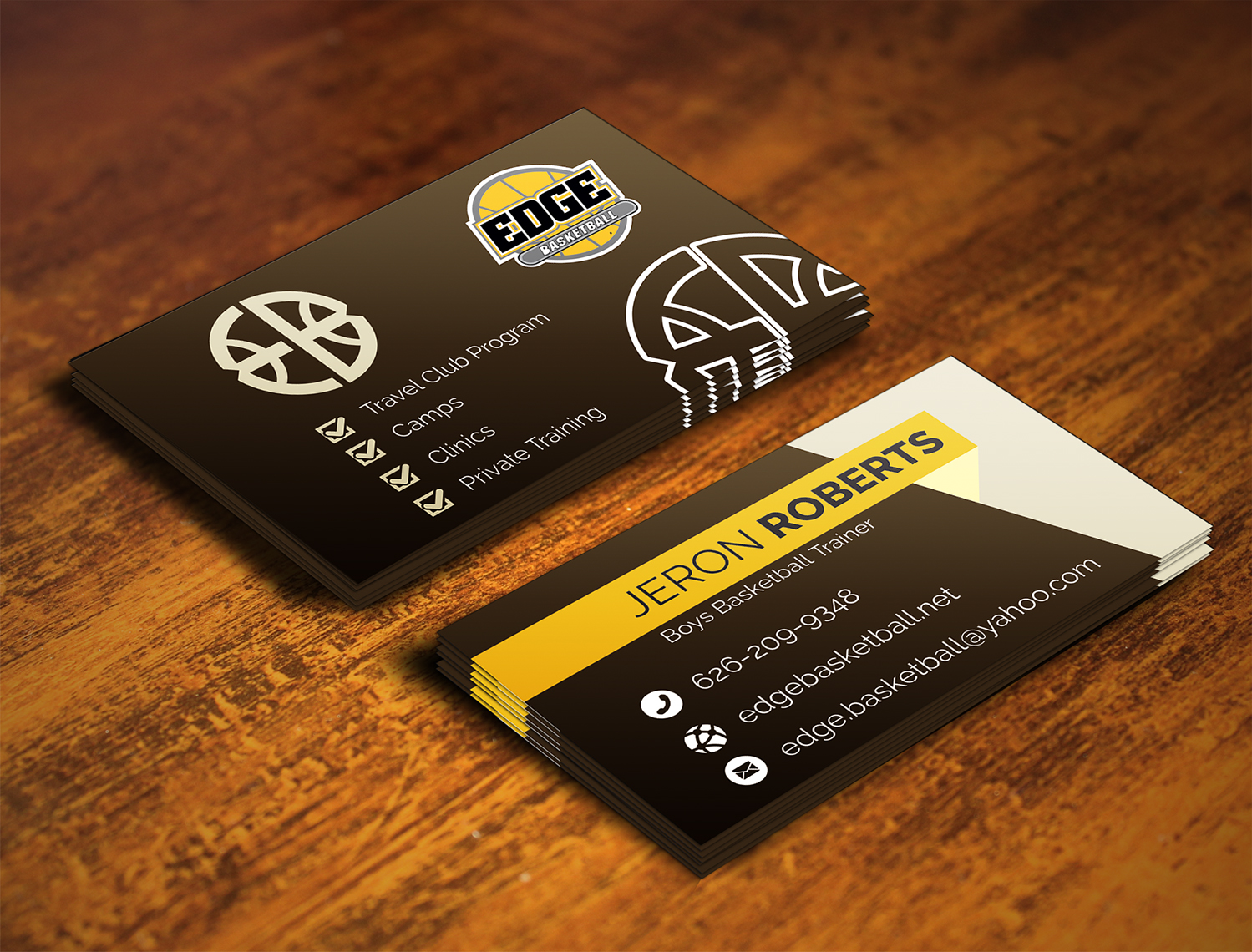 Design De Carte Visite Par Stagezin Pour Edge Basketball