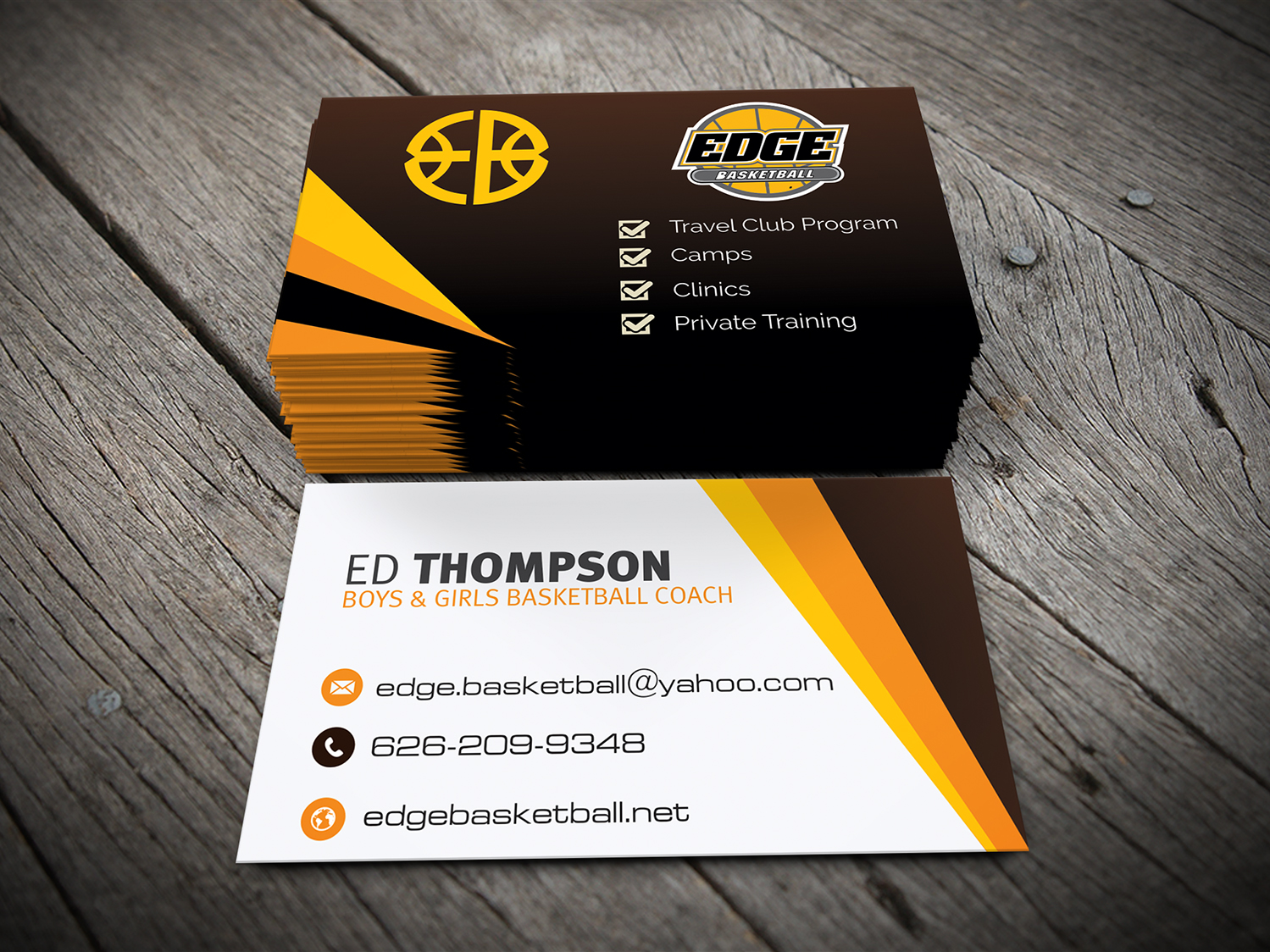 Business Business Card Design for Edge Basketball by stagezin ...