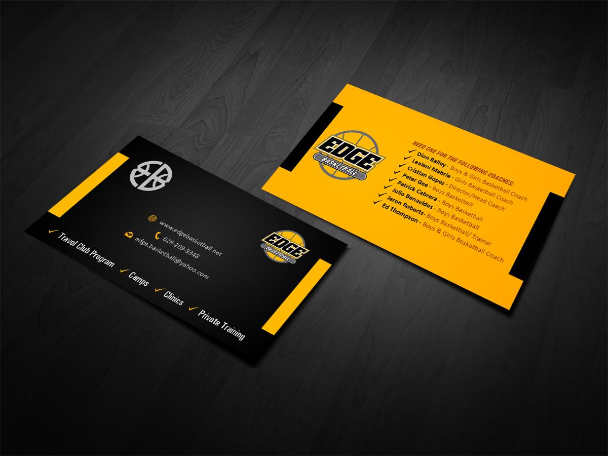 Business Business Card Design for Edge Basketball by Owaisias ...