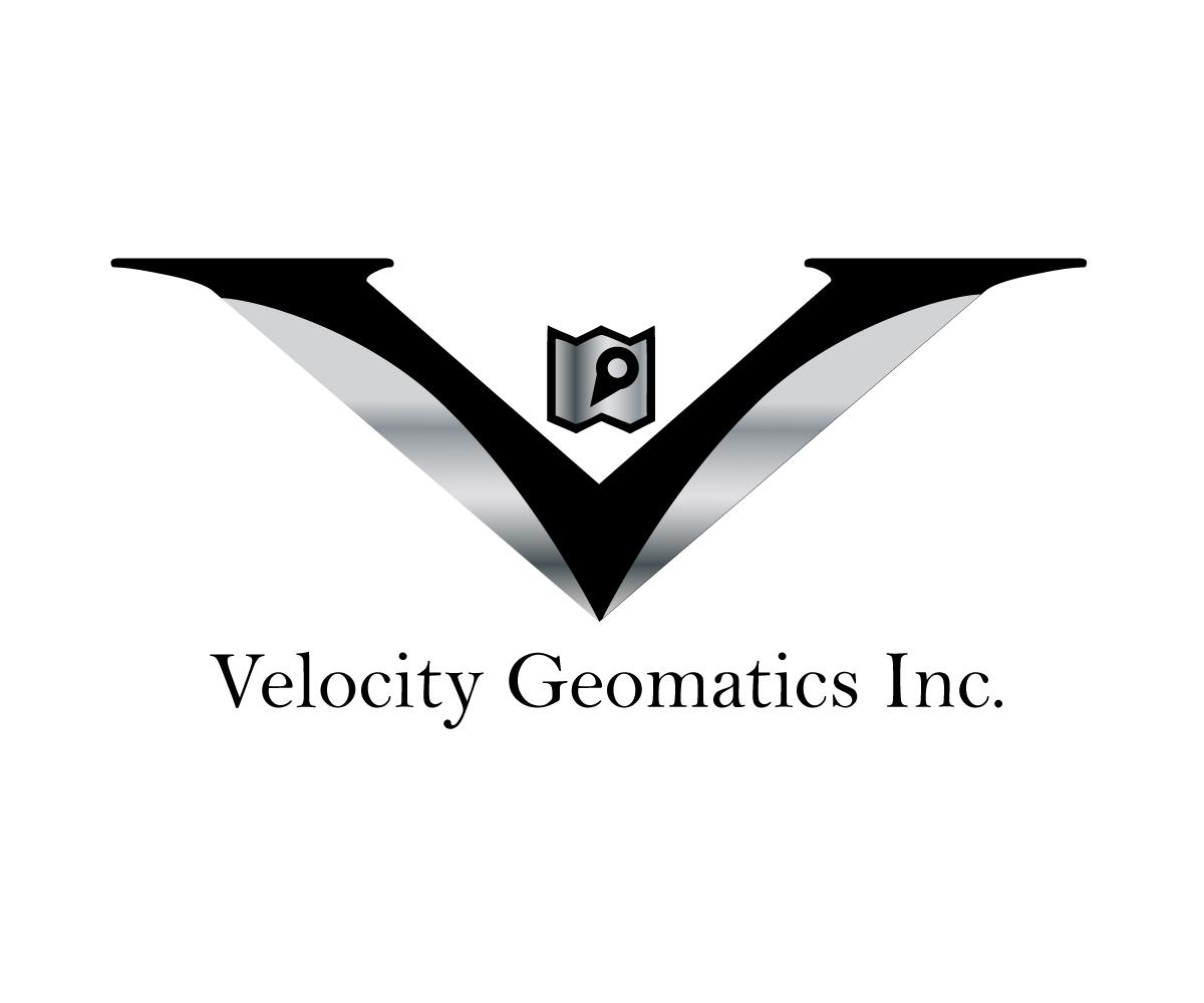 It Company Logo Design For Velocity Geomatics Inc By Fontasdesign