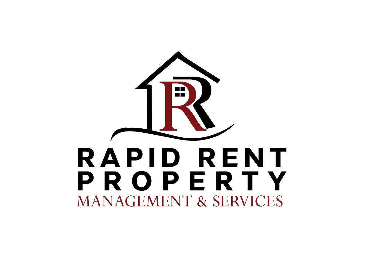 Property Management Services : Elegant playful real estate logo design for rapid rents