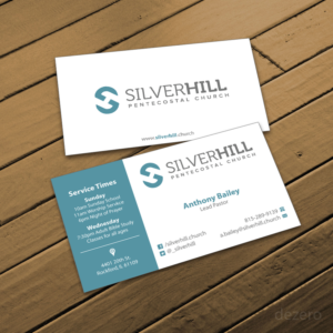 business card design by dezero for silver hill pentecostal church design 10938948 - Church Business Cards