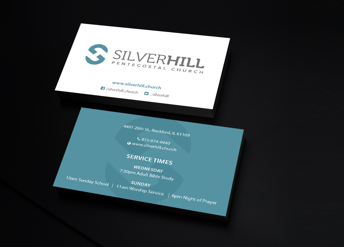 business card design by creations box 2015 for silver hill pentecostal church design 10770845 - Church Business Cards