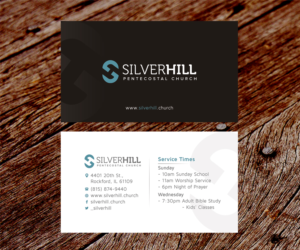 business card design by ss_designs for silver hill pentecostal church design 10799086 - Church Business Cards