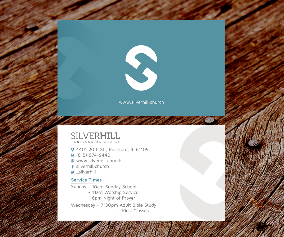 Modern Bold Religious Business Card Design For Silver Hill