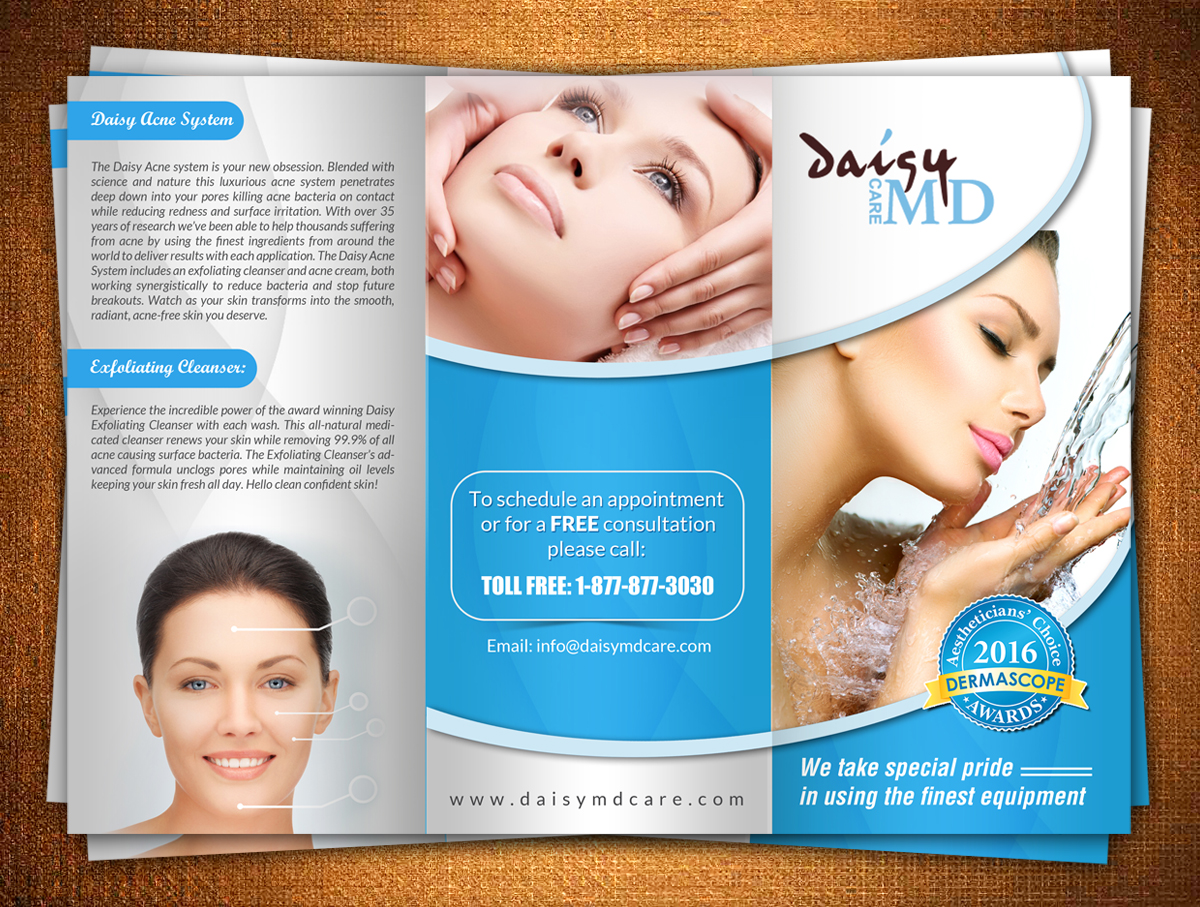 award winning brochure designs - serious modern brochure design for daisy md care by hih7