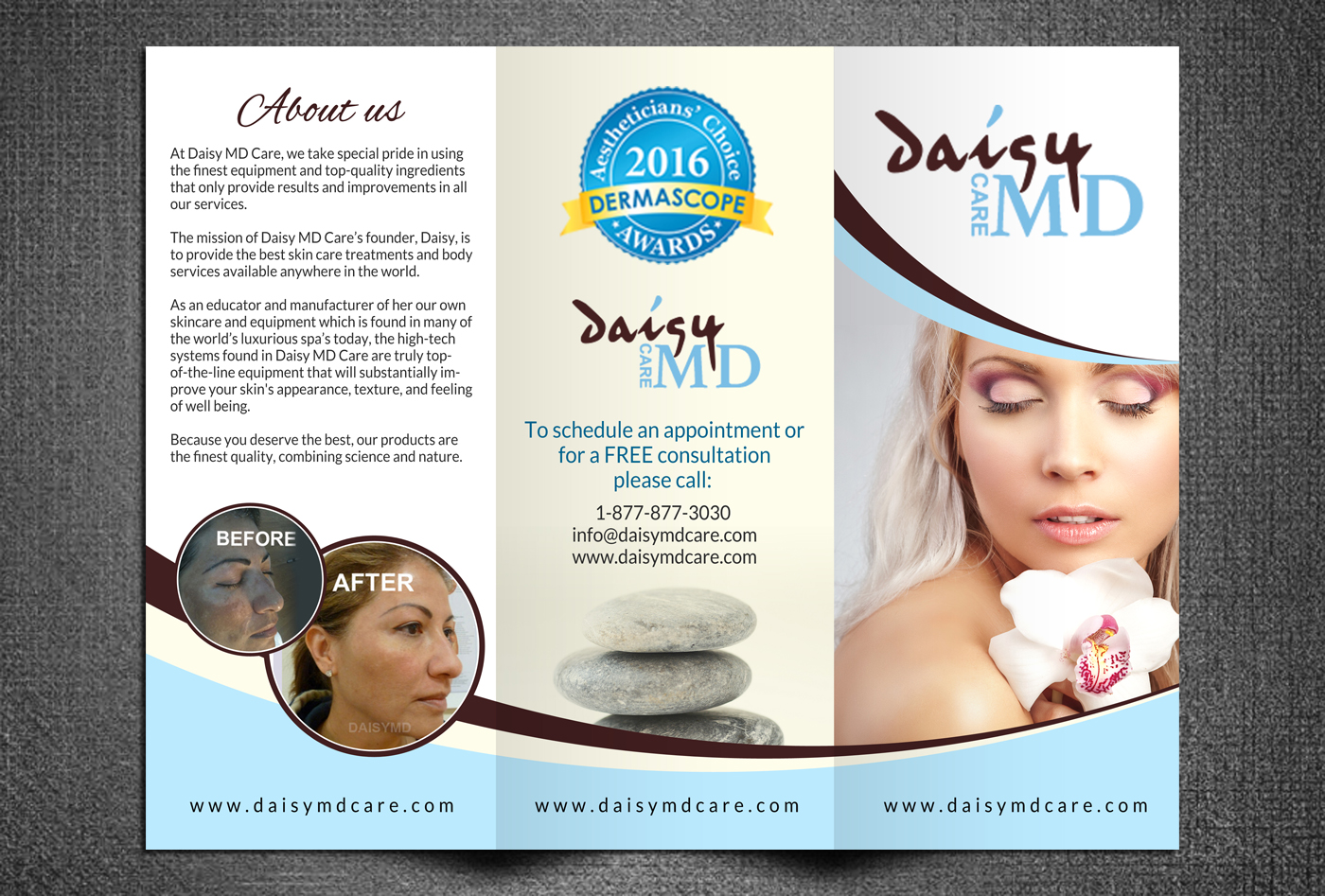 Serious Modern Skin Care Product Brochure Design For Daisy Md Care By Creative Bugs Design 10768668