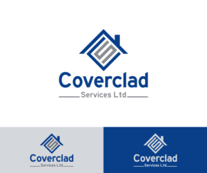 Serious Professional Roofing Logo Design For Coverclad
