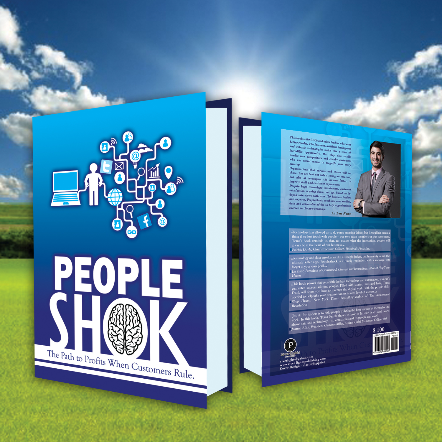 Bold, Serious, Business Book Cover Design for a Company by