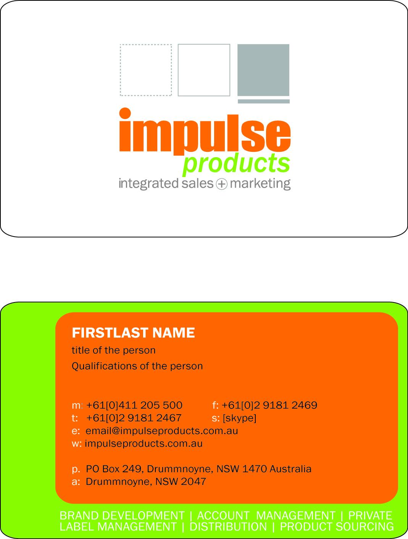 Business business card design for impulse products by kateryna t business business card design for impulse products in australia design 23792 reheart Images