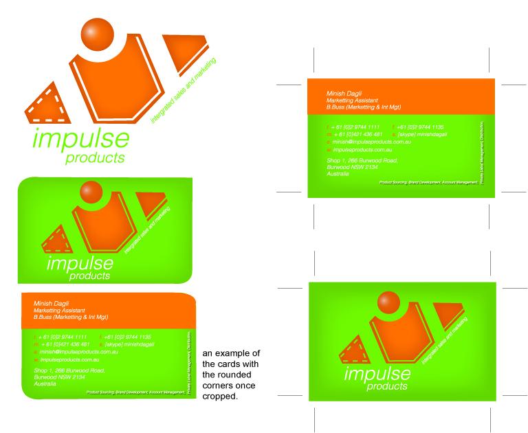 Design De Carte Visite Business Pour Impulse Products En Aux Australia