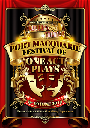 Poster Design job – One Act Play Festival – Winning design by disign