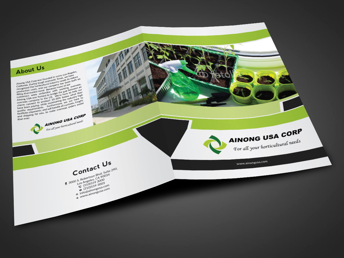 Playful modern it company catalogue design for ainong for Design company usa