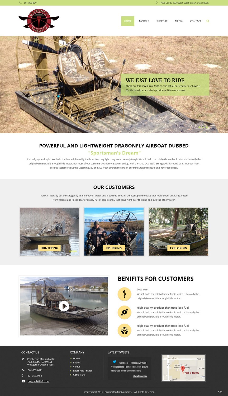 Professional, Masculine, Marine Wordpress Design for Mud