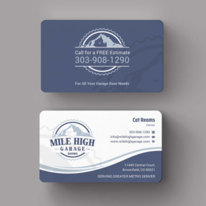 Business Card Design By Indian Ashok For Mile High Garage Door S Repair