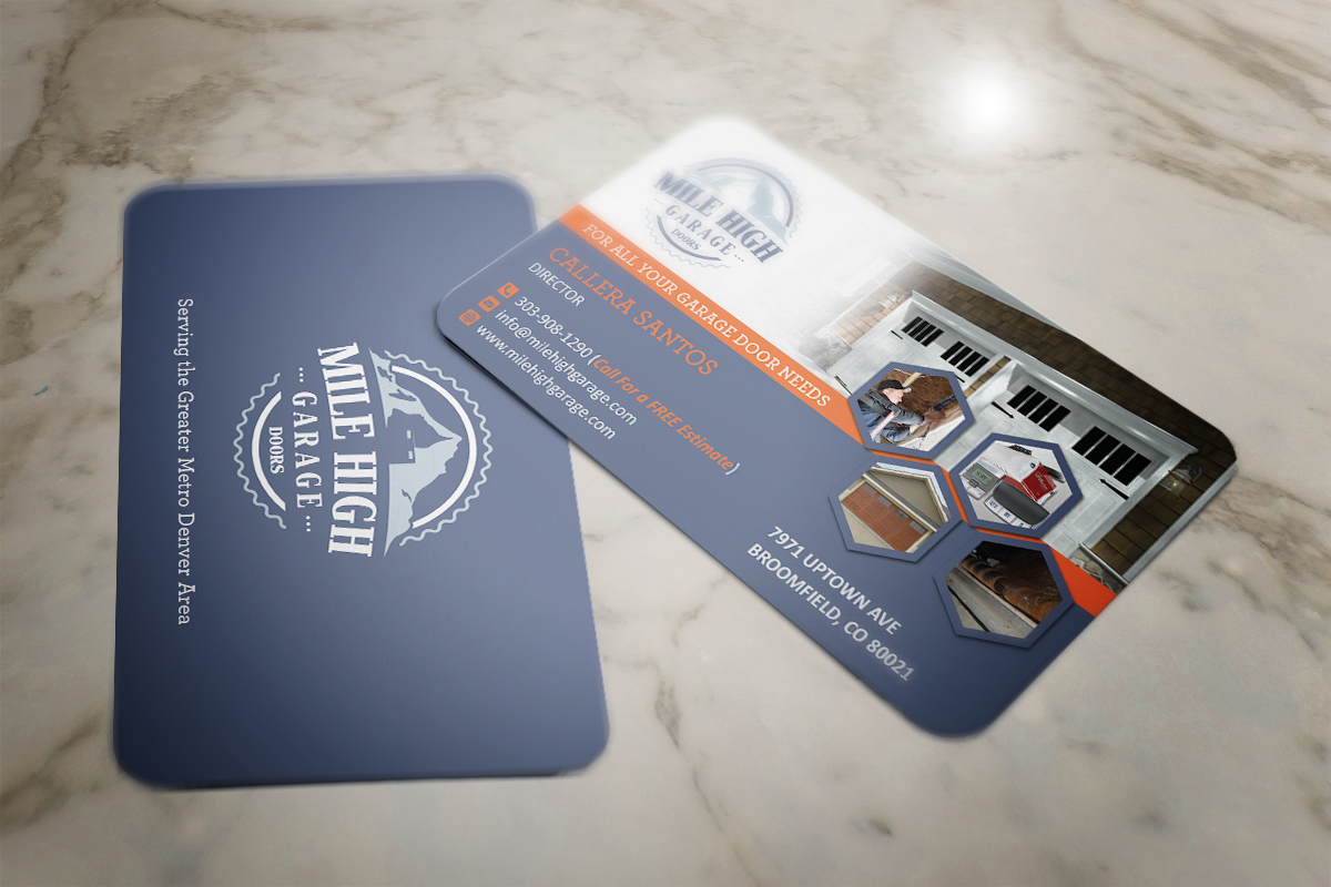 Business Card Design By Grafactory For Mile High Garage Door S Repair