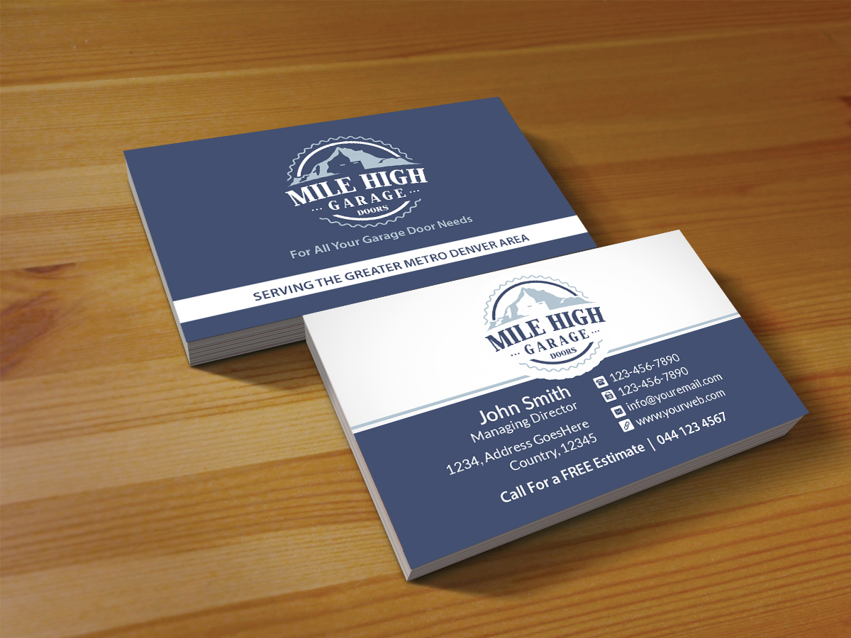 Modern, Colorful, Home Improvement Business Card Design for Mile ...