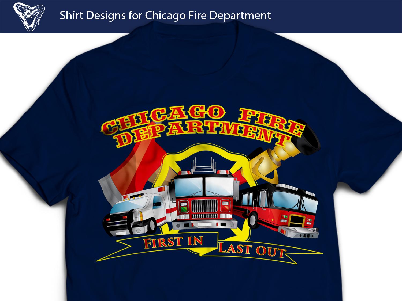Professional Modern Fire Department T Shirt Design For Chicago