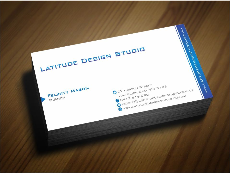 Feminine serious construction business card design for latitude business card design by zarnab for latitude design studio design 2252503 colourmoves