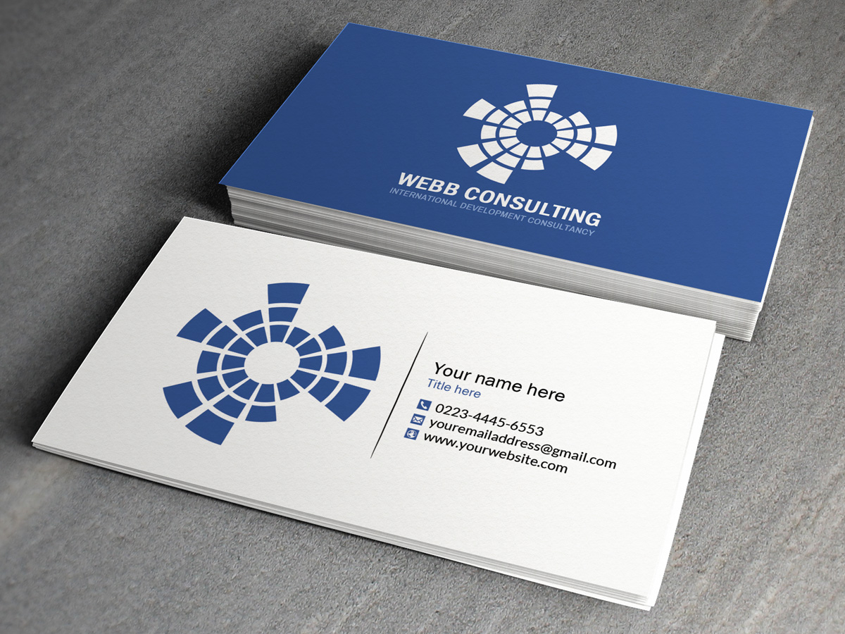 Personable, Modern, Business Business Card Design for webb ...
