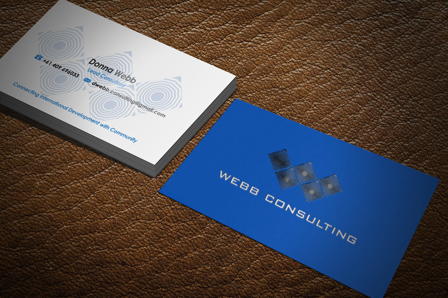 Personable, Modern Business Card Design for webb consulting by Riz ...