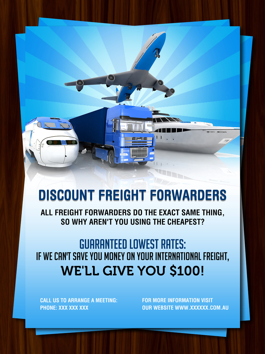 Modern, Bold, Freight Forwarding Flyer Design for a Company by