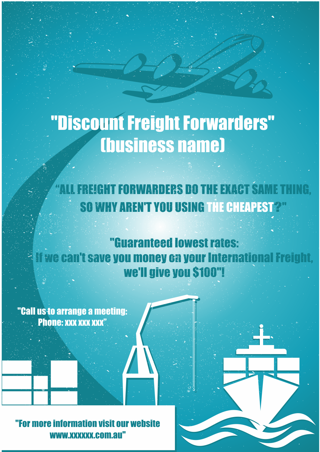 Modern, Bold, Freight Forwarding Flyer Design for a Company