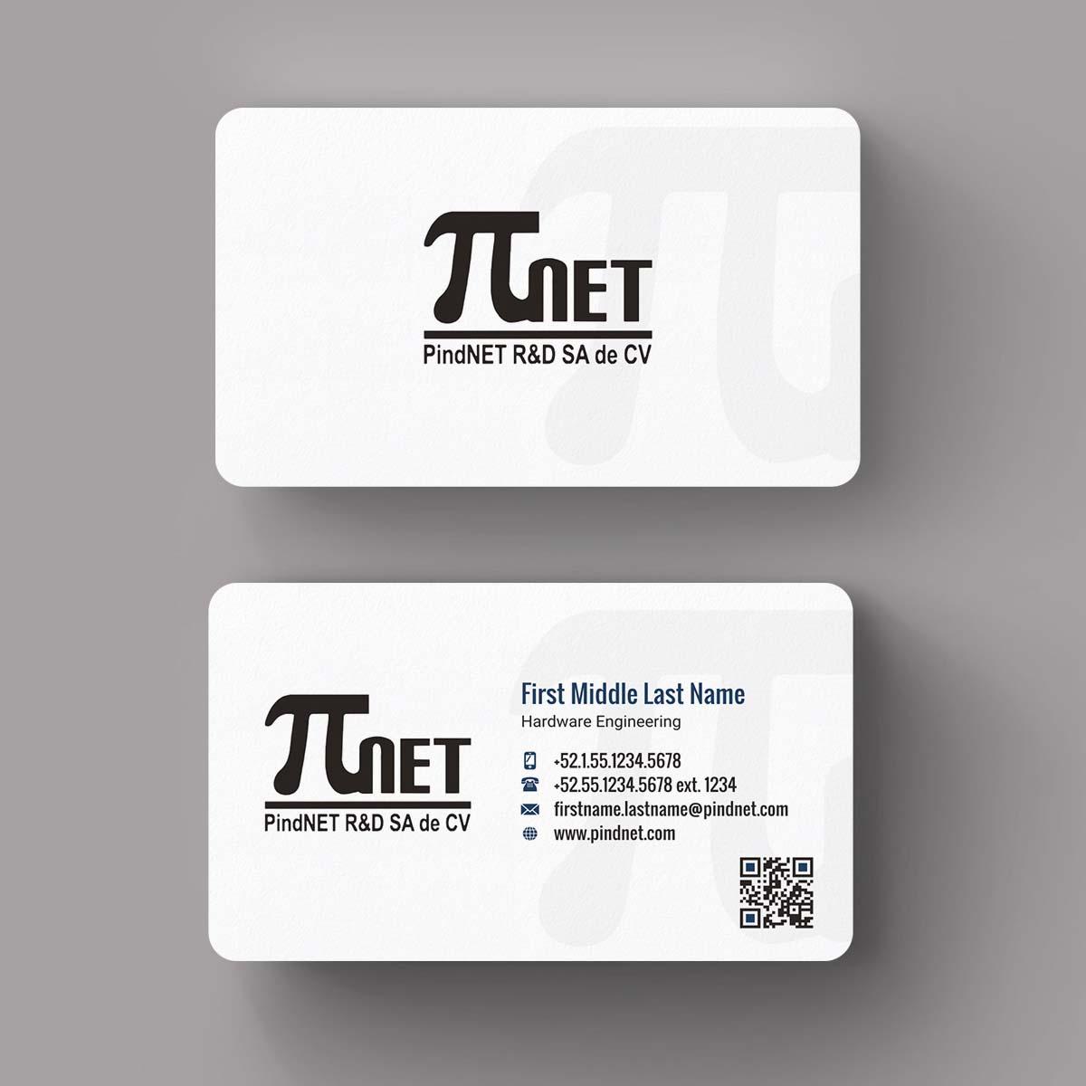 Modern upmarket information technology business card design for business card design by indianashok for pindnet rd sa de cv design 10822275 colourmoves