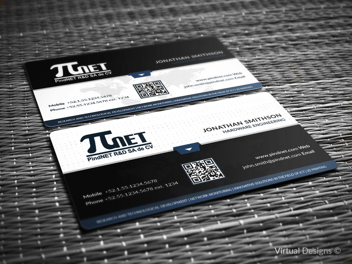 160 modern business card designs information technology business business card design by virtual designs for pindnet rd sa de cv design colourmoves