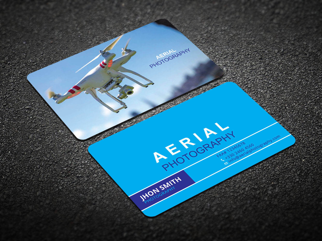 Serious modern business card design for tony paolillo by design business card design by design xeneration for business card for drone aerial design reheart Choice Image