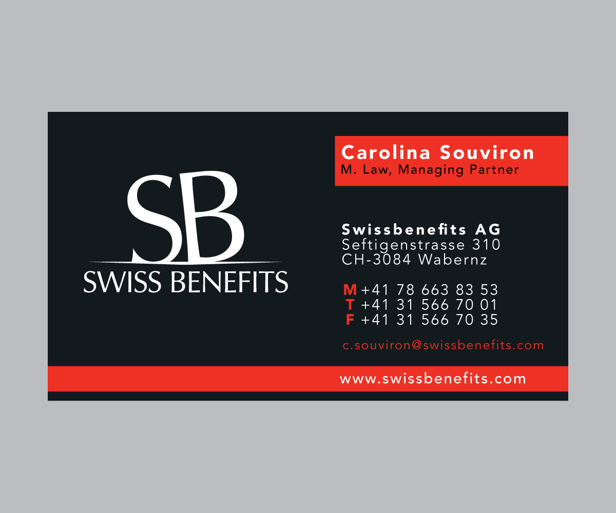 Business card design for swiss care by jlg studios design 2266665 business card design by jlg studios for business card design project design 2266665 colourmoves Image collections