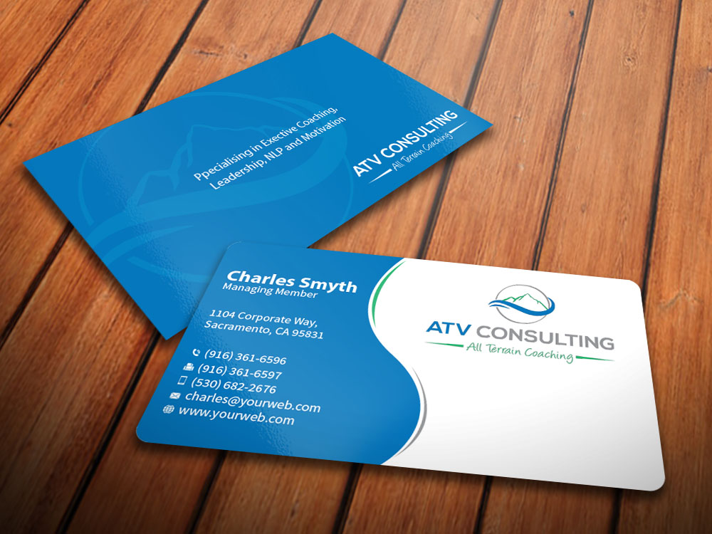 Modern, Elegant, Life Coaching Business Card Design for ATV ...