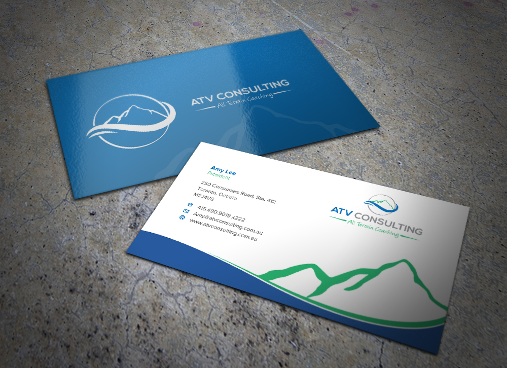 Business Card Design By Eggo May P For ATV Consulting