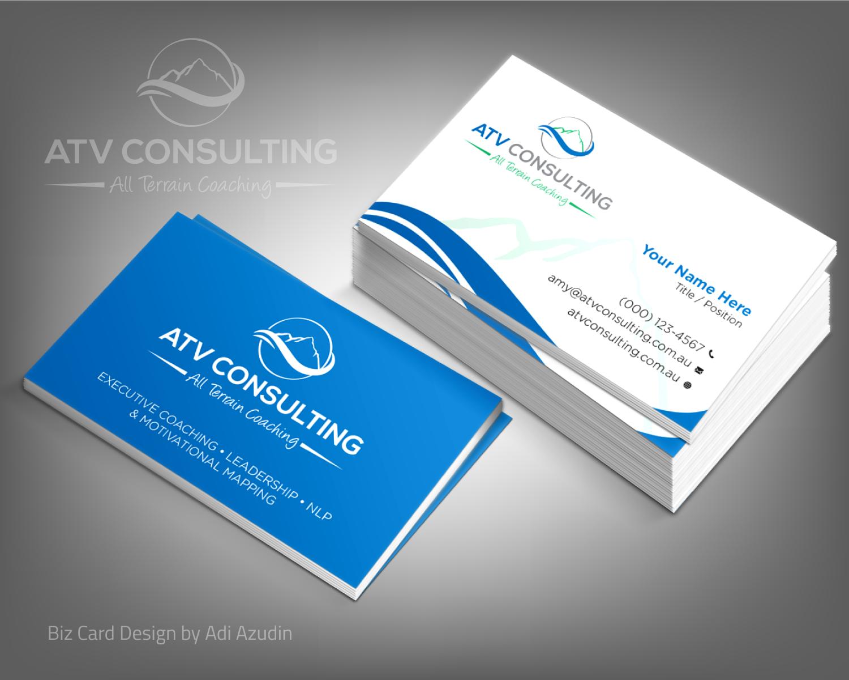 Design De Carte Visite Moderne Lgant Life Coaching Pour ATV Consulting En Aux Australia