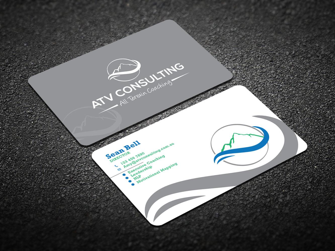 Modern, Elegant, Life Coaching Business Card Design for ATV ...