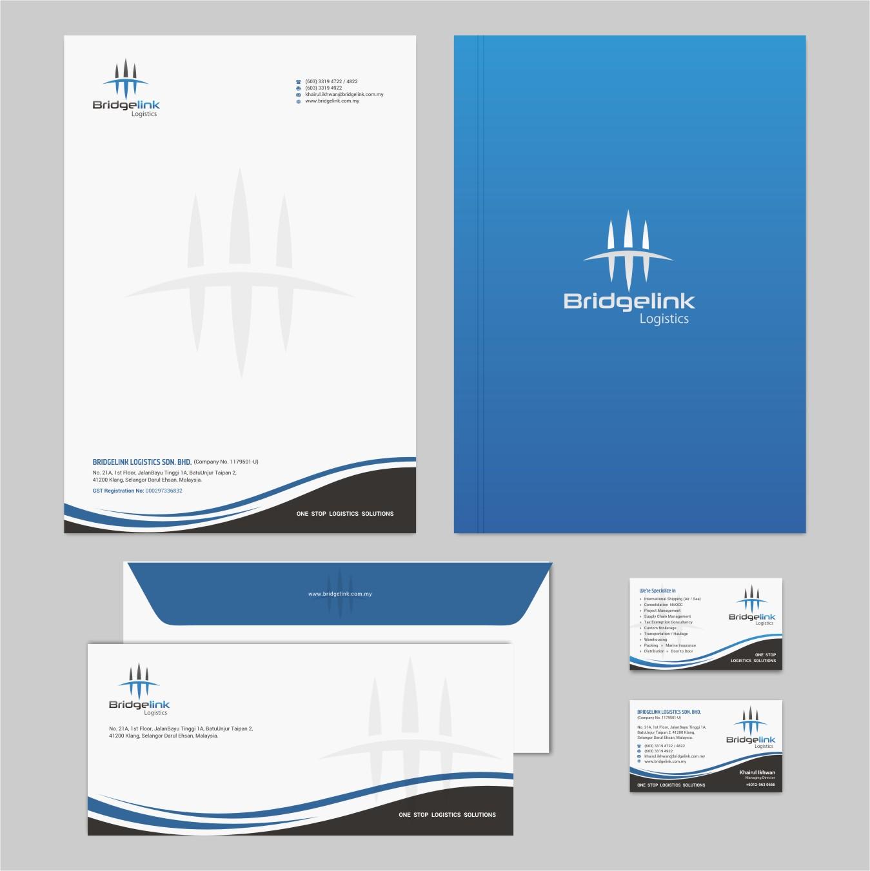 Modern, Elegant, Logistic Stationery Design for Bridgelink Logistics