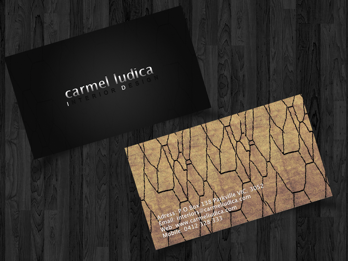 Printing Business Card Design for Carmel Iudica Interior Design by ...