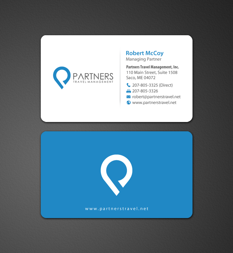 Serious, Modern, Travel Industry Business Card Design for Partners ...