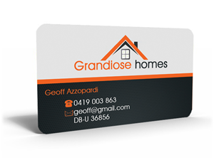 Home builder business card designs for Home builder business cards