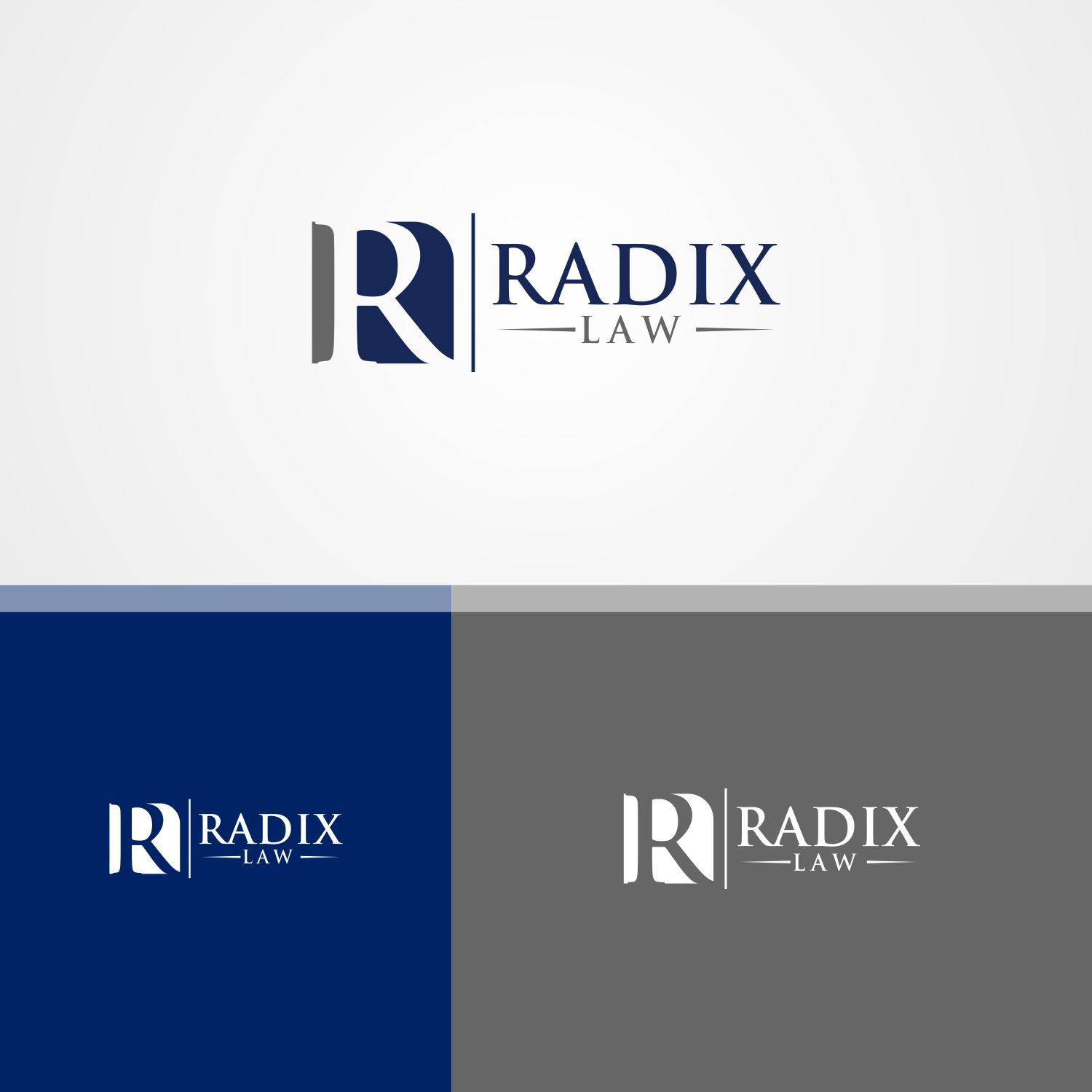 Upmarket, Serious, Law Firm Logo Design for Radix Law by