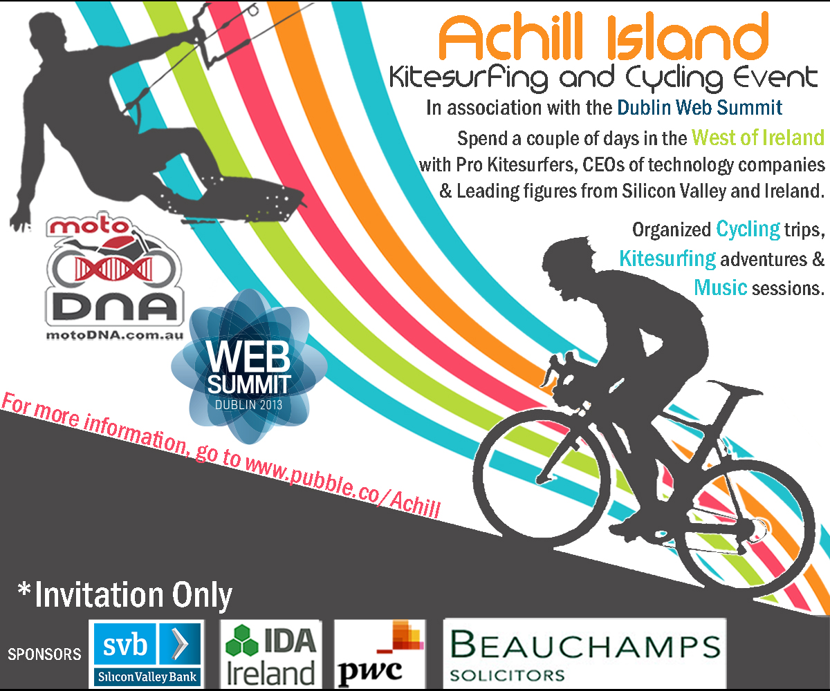 Poster design dublin - Poster Design By Qriouslabz For Kitesurfing Cycling Event In The West Of Ireland Design