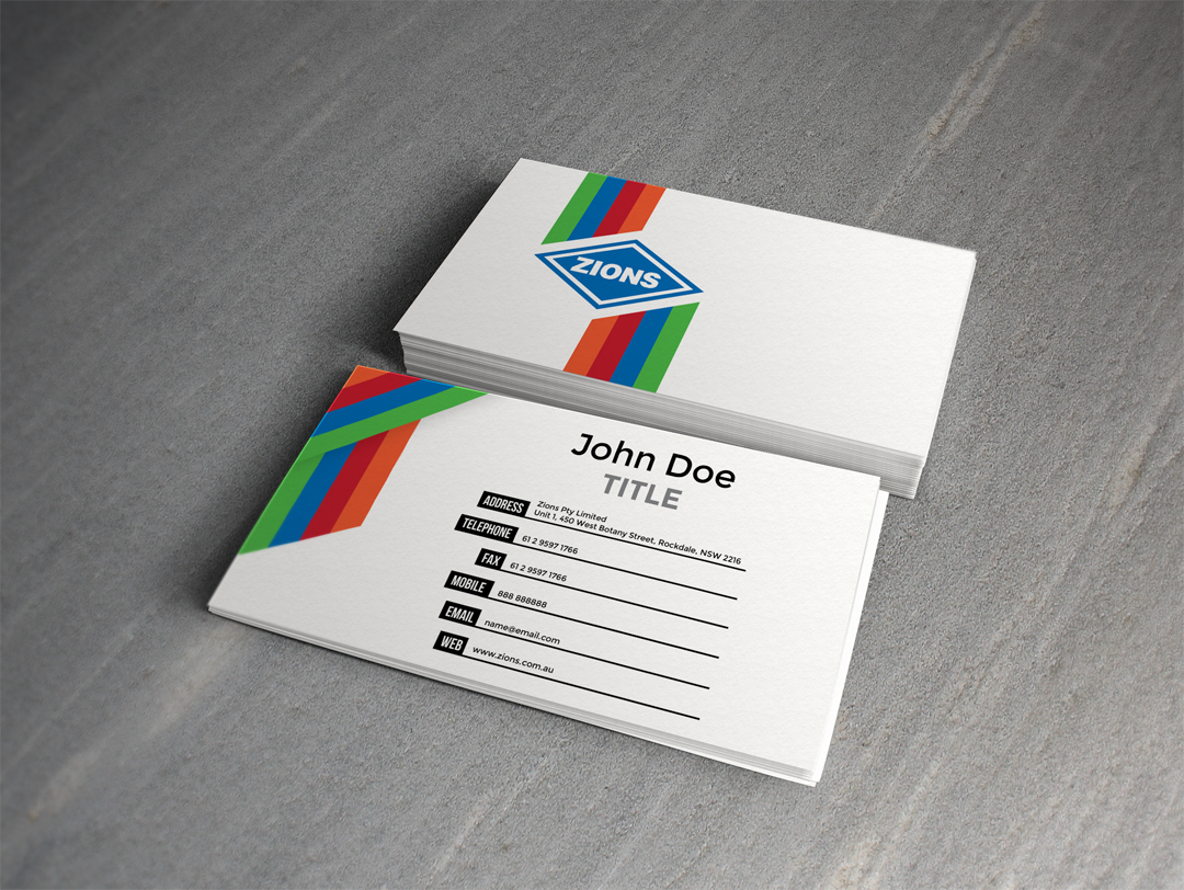 colorful modern business card design for john given by arctic