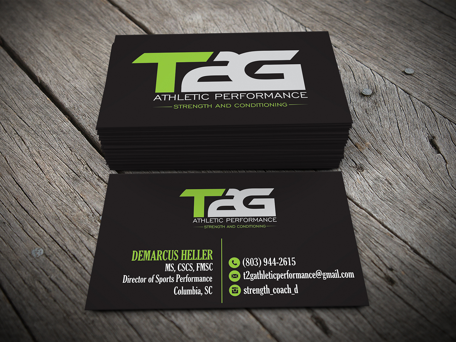 Masculine serious fitness business card design for t2g athletic business card design by alhemique1 for t2g athletic performance design 10905903 colourmoves