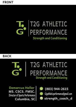 36 masculine business card designs fitness business card design business card design by graficalo for t2g athletic performance design 10918562 colourmoves